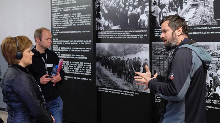 Pierwsza minister Szkocji odwiedziła Auschwitz-Birkenau