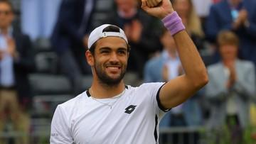 ATP w Londynie: Matteo Berrettini najlepszy w turnieju