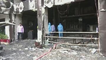 Pożar hotelu dla osób z koronawirusem w Indiach. Zginęło co najmniej 10 osób