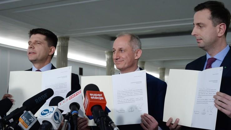 """PO, Nowoczesna i PSL apelują do prezydenta. """"Jako do strażnika konstytucji"""""""