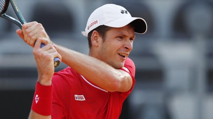 ATP w Kolonii: Hubert Hurkacz odpadł w 1. rundzie debla