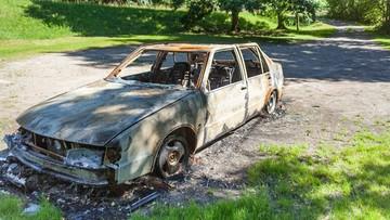 Samochód uderzył w drzewo i stanął w płomieniach. Kierowca w szpitalu