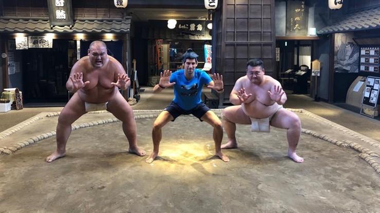 Novak Djokovic spróbował sił w... sumo [WIDEO]