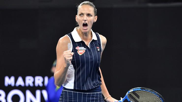 WTA w Brisbane: Pliskova jako pierwsza wygrała po raz trzeci