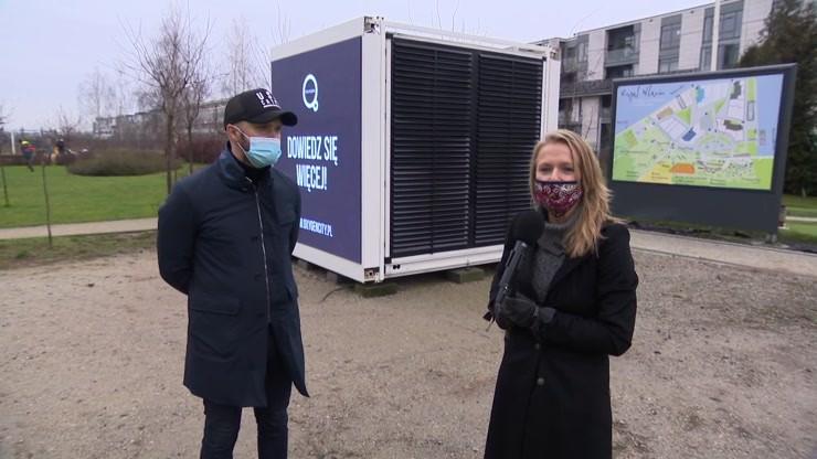 Na warszawskim Wilanowie stanął pierwszy na świecie miejski filtr powietrza