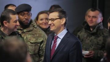 Morawiecki spotkał się z żołnierzami. Mówił o testamencie Lecha Kaczyńskiego