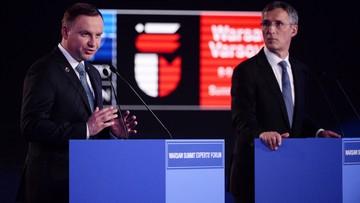 Duda i Stoltenberg o wzmocnieniu Sojuszu, polityce siły i cenie bezpieczeństwa