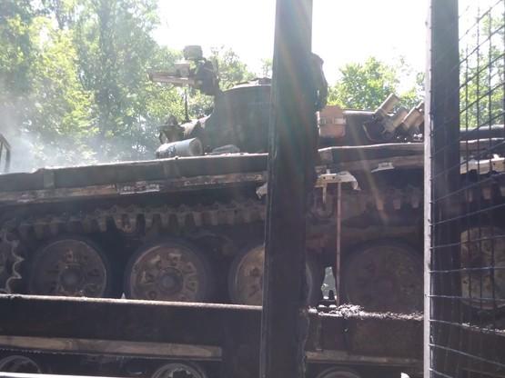 Spalony czołg