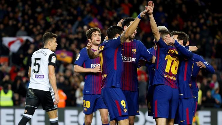 Suarez dał wygraną nad Valencią. Skromna zaliczka Barcelony w Pucharze Króla