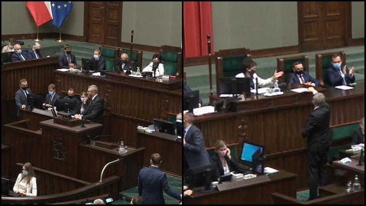 Grzegorz Braun wykluczony z posiedzenia Sejmu. Nie chciał założyć maseczki