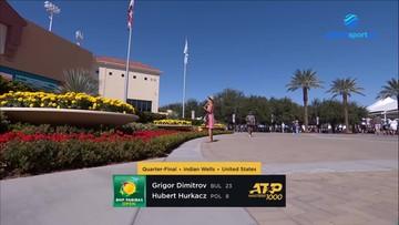 ATP w Indian Wells: Hubert Hurkacz - Grigor Dimitrow 1:2. Skrót meczu