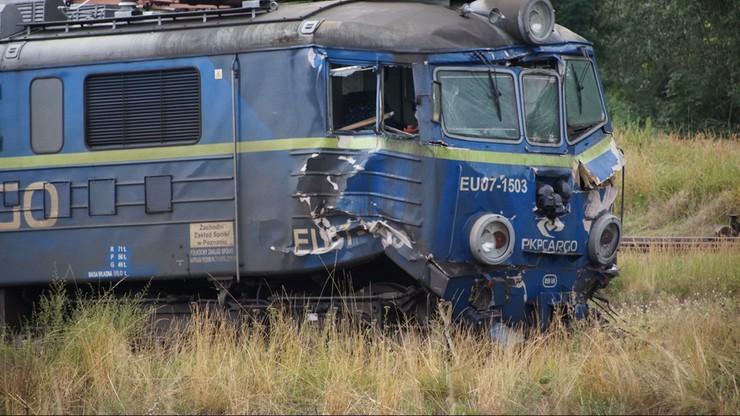Kostrzyn nad Odrą. Zderzenie lokomotywy i pociągu towarowego. Poszkodowany maszynista