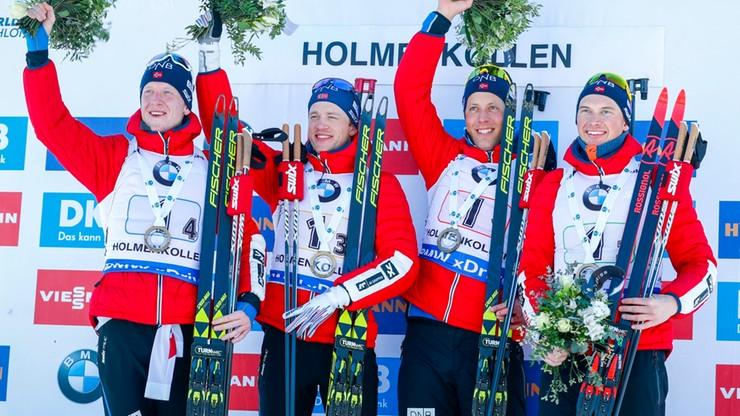 PŚ w biathlonie: Norwegowie najlepsi w sztafecie