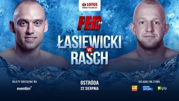 Łasiewicki z Raschem perełką w K-1 na karcie walk FEN 29