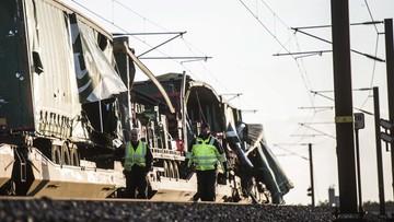Wypadek pociągu w Danii. Sześć osób zginęło [WIDEO]