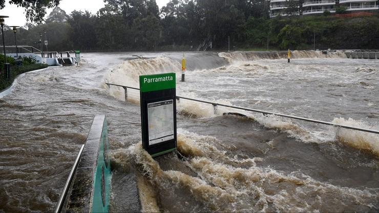 Australia. Ulewne deszcze na wschodnim wybrzeżu. Ewakuowani mieszkańców Sydney
