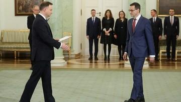 Powołanie rządu Morawieckiego w poniedziałek o godz. 17. Nieoficjalnie: przewidywana jest wymiana kilku ministrów