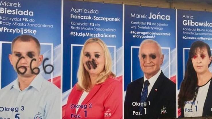 """Zniszczono plakaty wyborcze kandydatów PiS. """"Polityczne chuligaństwo"""""""