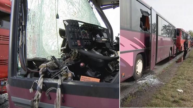 Zderzenie dwóch autokarów na Dolnym Śląsku. 14 osób poszkodowanych