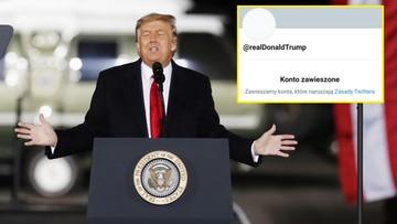 Donald Trump na stałe zablokowany na Twitterze