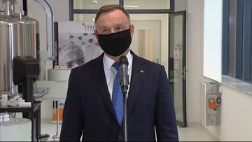 Polski lek przeciw koronawirusowi w przyszłym roku? Prezydent z wizytą w laboratorium