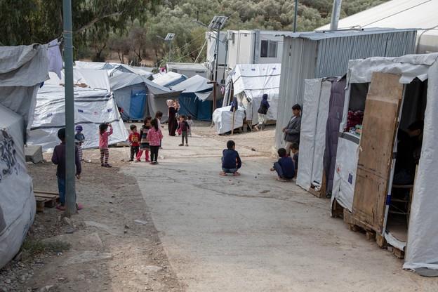 Obóz dla uchodźców w wiosce Moria na Lesbos