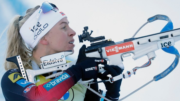 MŚ w biathlonie: Drugie złoto Tiril Eckhoff, Monika Hojnisz-Staręga najlepsza z Polek
