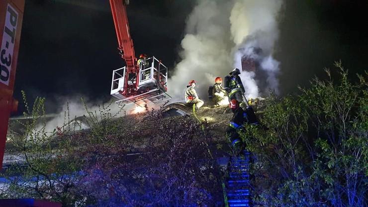 Pożar w Wólce Radzymińskiej na Mazowszu