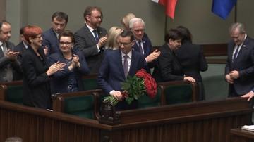 """Sejm udzielił wotum zaufania rządowi Mateusza Morawieckiego. """"Za"""" głosowało 231 posłów"""