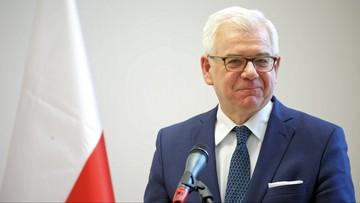 Szef MSZ: udział państw w konferencji bliskowschodniej - znaczny i na wysokim poziomie