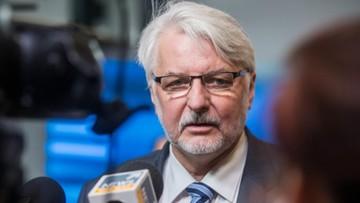 Waszczykowski o sprawie Przyłębskiego: MSZ nie jest instytucją lustrującą