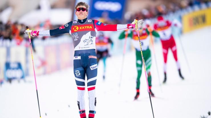 Tour de Ski: Klaebo minimalnie lepszy od Ustiugowa na dochodzenie