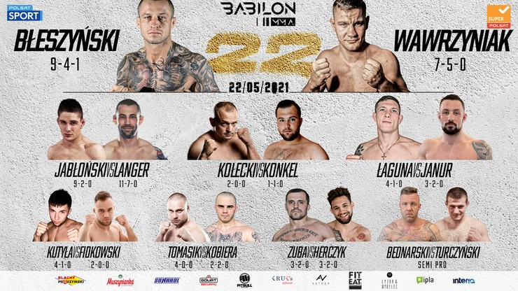 Babilon MMA 22: Pełna karta walk sobotniej gali