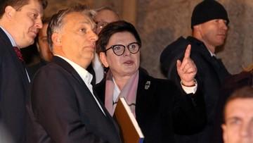 Premier Szydło spotkała się w Krakowie z premierem Orbanem