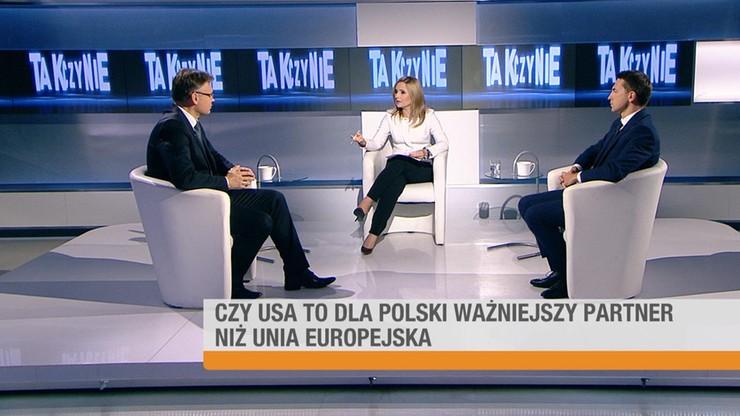 """Czy USA to dla Polski ważniejszy partner niż Unia Europejska? - wyniki sondy programu """"Tak czy Nie"""""""