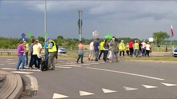 Blokada drogi na Mazowszu. Utrudnienia na trasie do Grójca