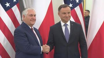 Andrzej Duda spotkał się z Rexem Tillersonem