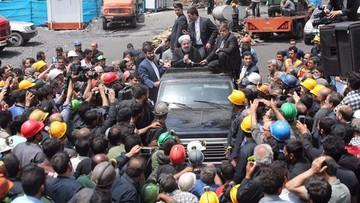 Zablokowali auto prezydenta Iranu. Nie chcieli, by odwiedził kopalnię, gdzie zginęli górnicy