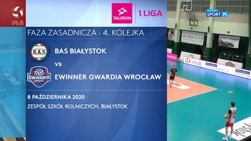 TAURON 1. Liga: BAS Białystok - eWinner Gwardia Wrocław 0:3. Skrót meczu