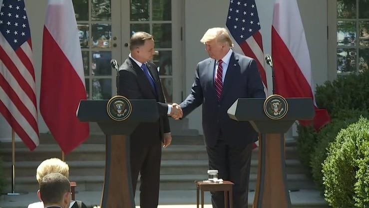 """""""Polsko-amerykańskie stosunki najlepsze w historii"""". Komentarze po spotkaniu Dudy z Trumpem"""