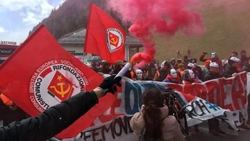 Austriacka policja starła się z demonstrantami na przełęczy Brenner