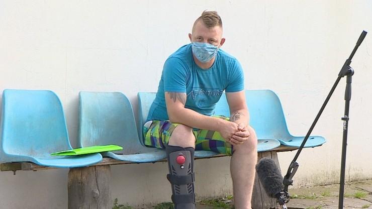 Źle złożyli złamaną nogę. Żaden szpital nie chce mu pomóc