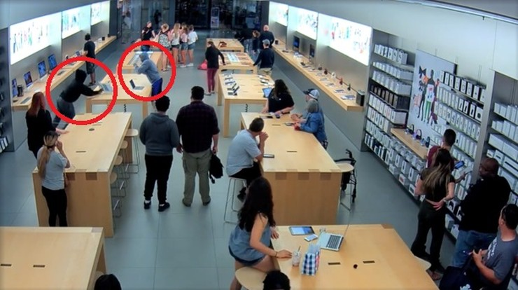 Zuchwały napad na sklep Apple'a. Złodzieje w pół minuty ukradli sprzęt o wartości 27 tys. dolarów