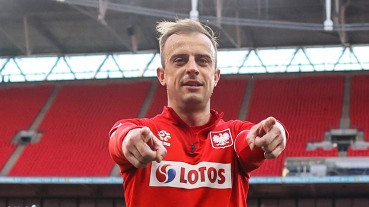 Kamil Grosicki nie gra na Euro, ale wspiera kolegów z reprezentacji Polski