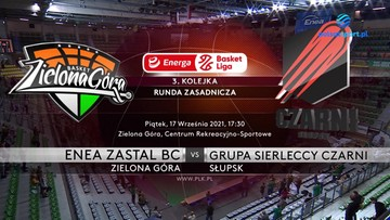 Enea Zastal BC Zielona Góra - Grupa Sierleccy Czarni Słupsk 83:91. Skrót meczu