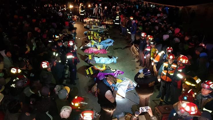 Tir wjechał w tłum ludzi stojących na drodze. 32 osoby zginęły w wypadku w Gwatemali