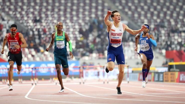 MŚ Doha 2019: Warholm obronił tytuł w biegu na 400 m ppł