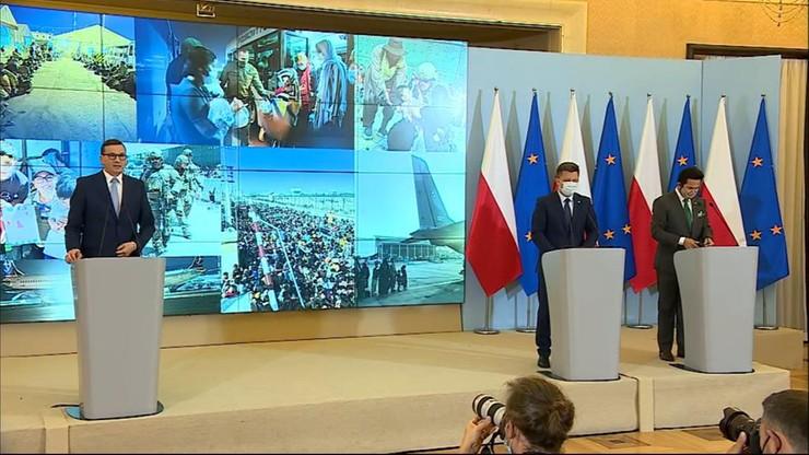 Koniec polskiej ewakuacji z Afganistanu. Konferencja premiera Morawieckiego i ministra Dworczyka