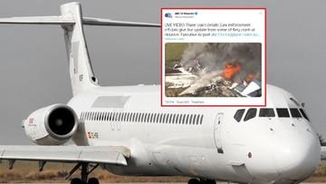 USA. Samolot rozbił się przy starcie. Wszyscy przeżyli