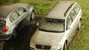 08.05.2021 00:00 Majowy śnieg w Warszawie (4K)